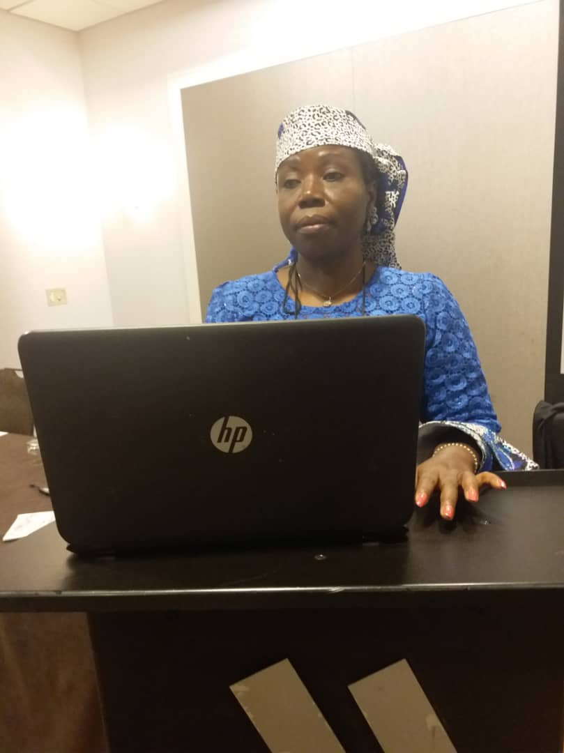 Prof G.M.T Emezue during the presentation of her paper at 2018 ASA conference at Atlanta, Georgia