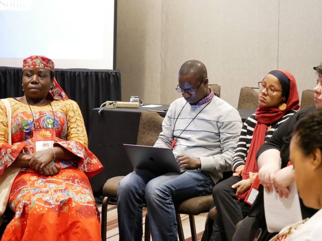 Prof G.M.T Emezue acting as one of the mentors at the Professional Development Session: Graduate Student Mentoring held on 29th November 2018, during the annual conference of the African Studies Association