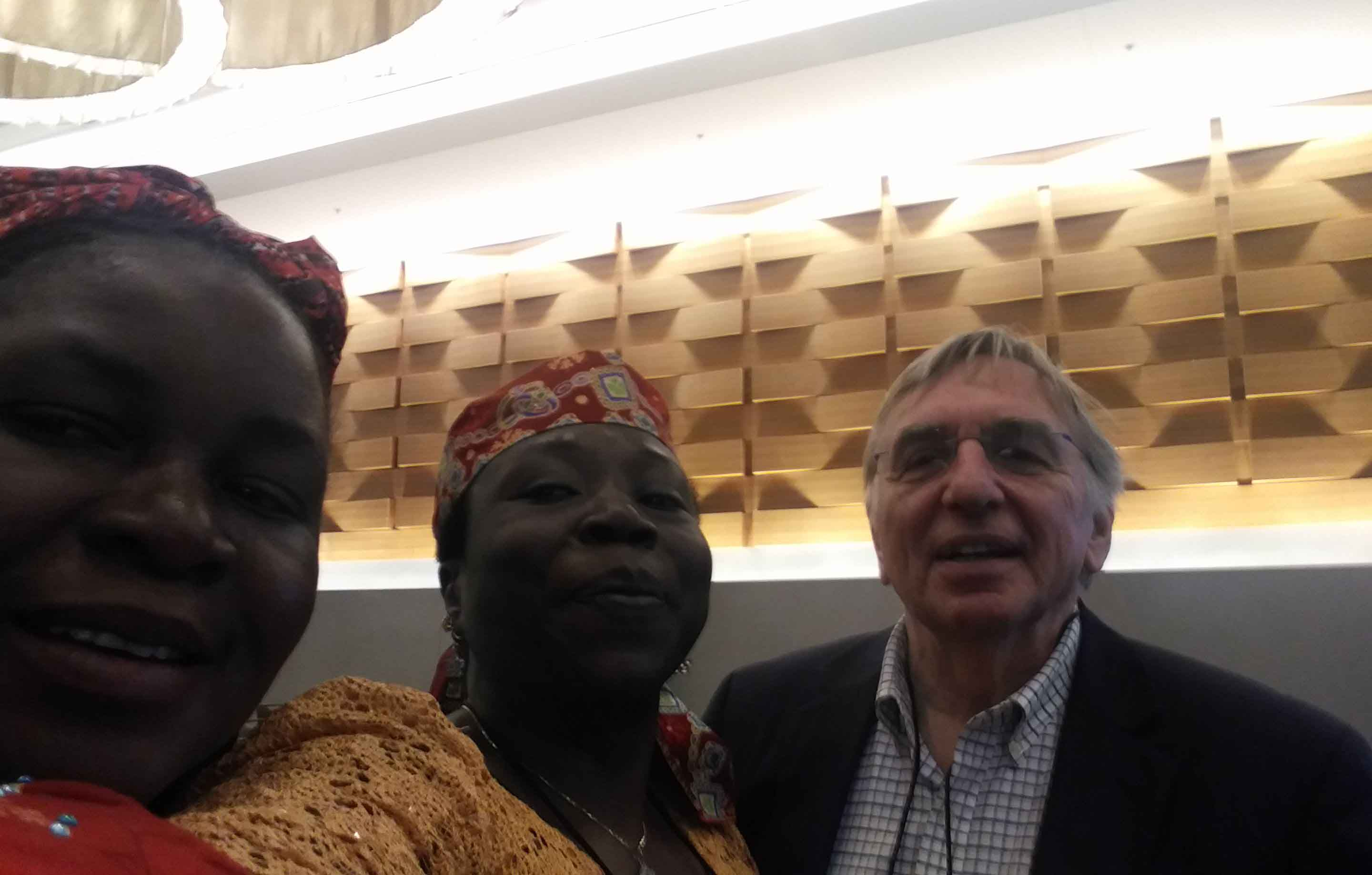 Left to Right: Dr Tonia Nwatu, Prof G.M.T Emezue and Mr Andrzej Tymowski