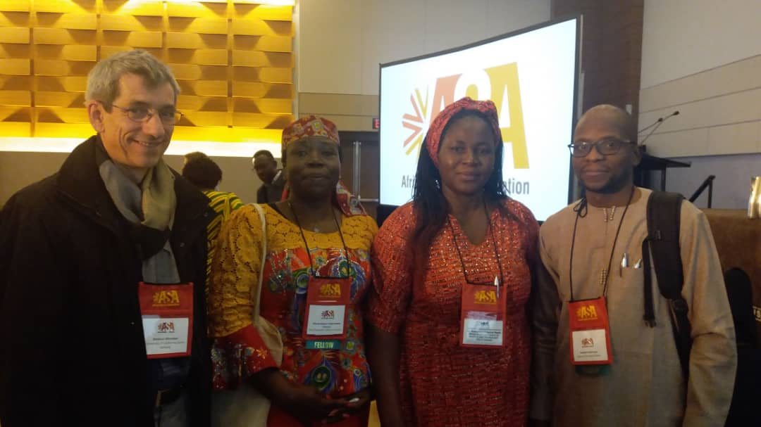 Prof G.M.T Emezue and other conferees during the ASA 2018 conference