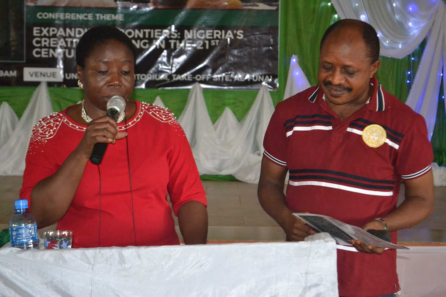 Prof G.M.T Emezue and Dr John Otu, acting as facilitators during the Workshops