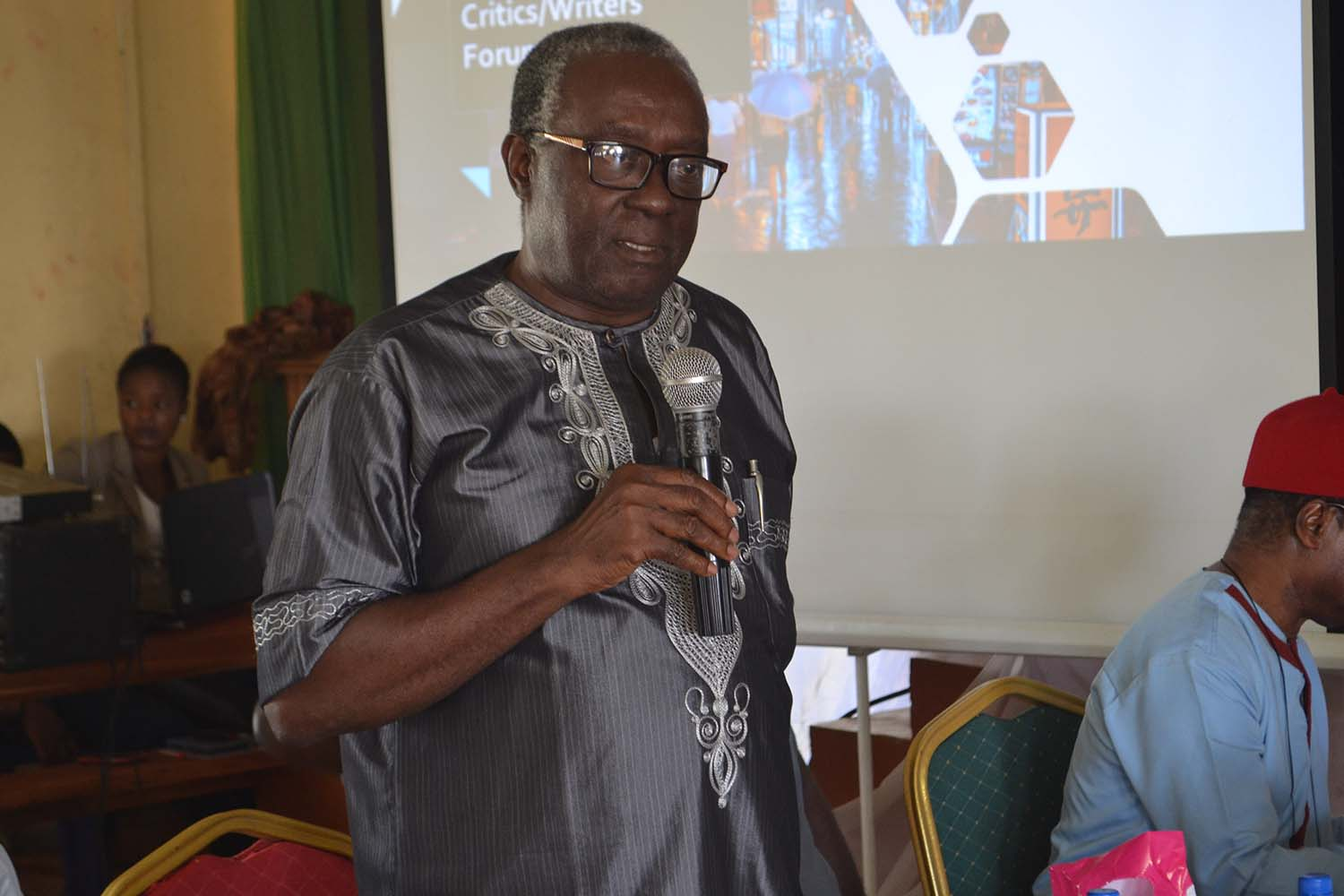 Prof JOJ Nwachukwu Agbada making a point during the conference