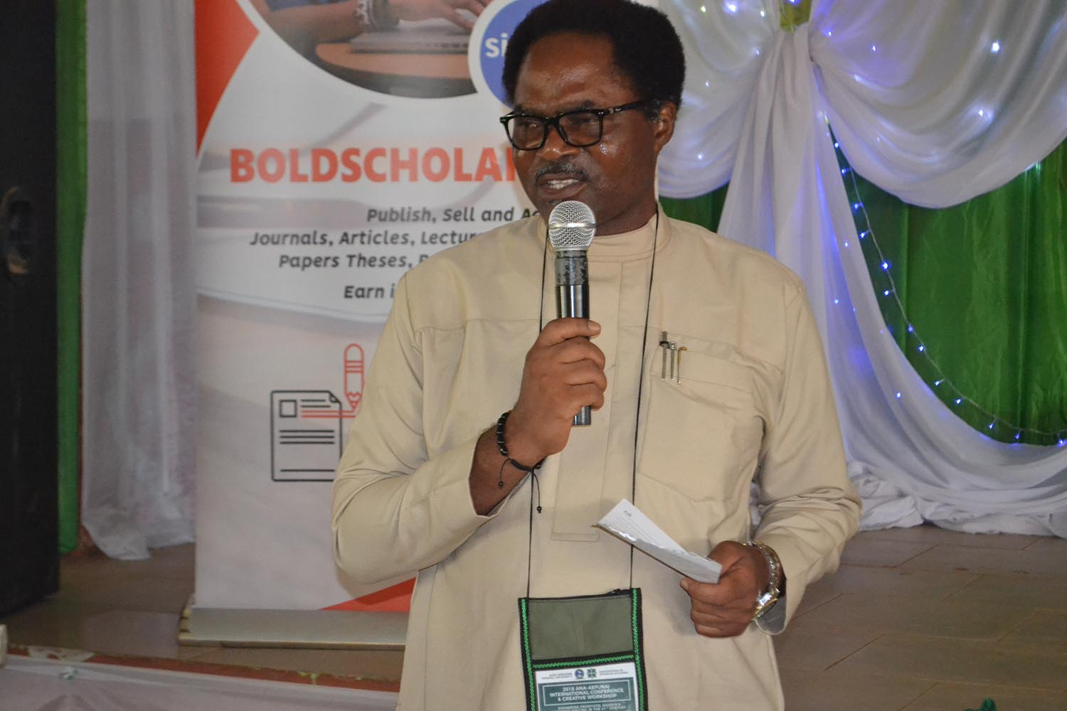 Mr Ikeogu Oke, making a contribution during the conference