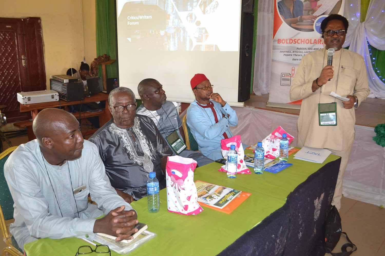 Left to right- Dr Ismaila Bala, Prof JOJ Nwachukwu Agbada, Prof Ogaga Okuyade , Prof Sam Ukala, Mr Ikeogu Oke