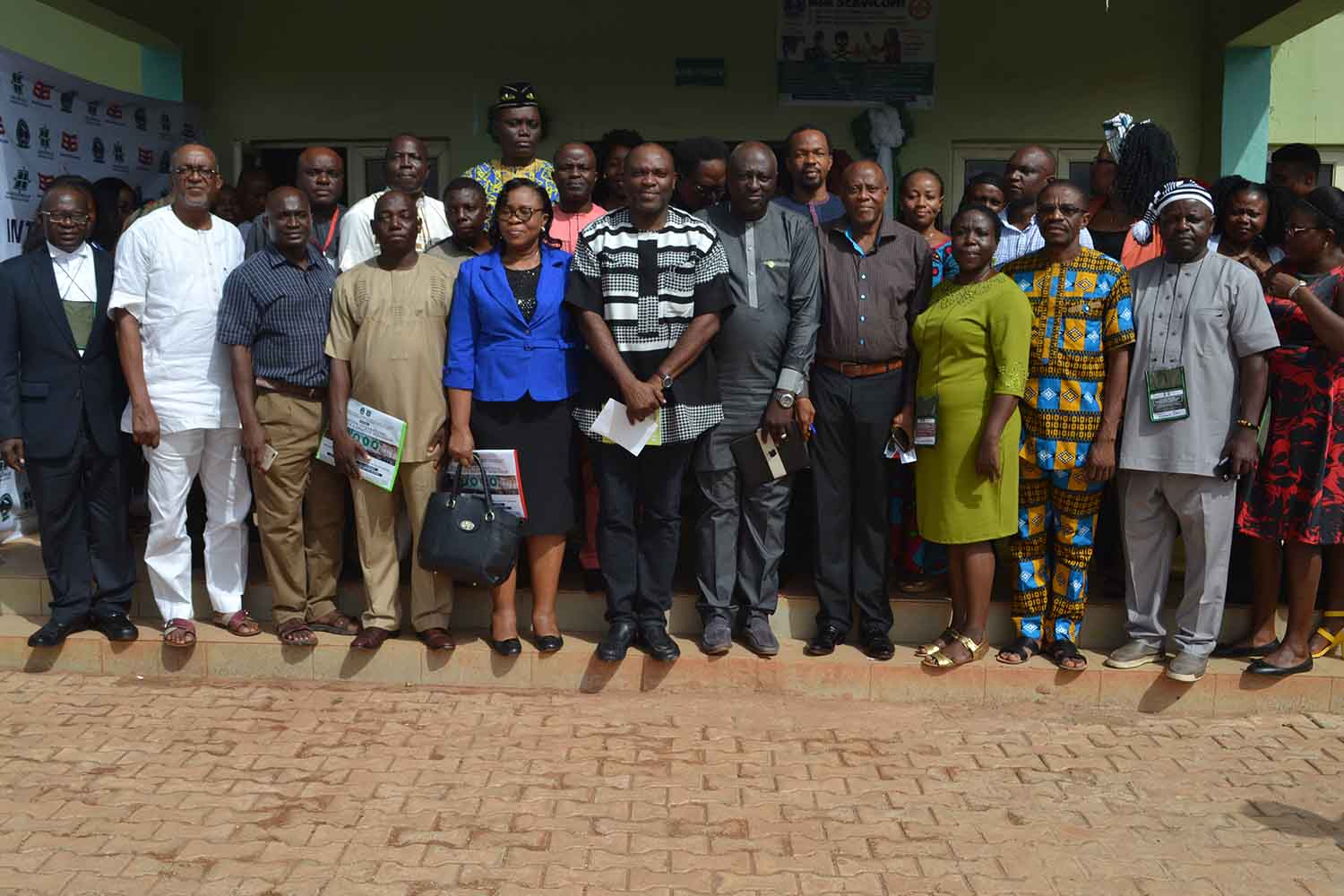 Participants pose for a group photograph with members of the ANA EXCO and AE-FUNAI's management