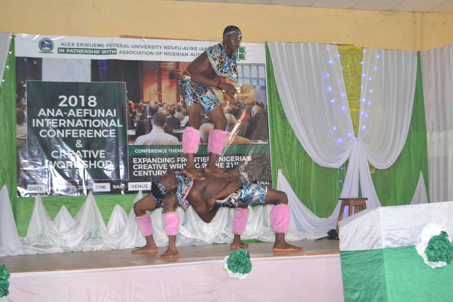Performers during the 2018 ANA/FUNAI conference