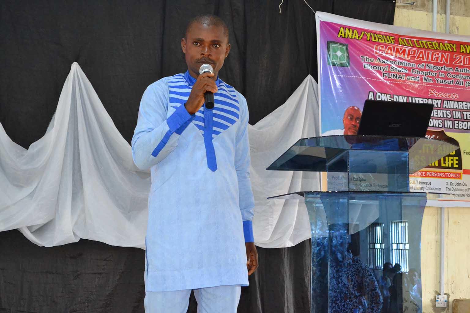 Dr Onyebuchi Nwosu making his presentation at the event.