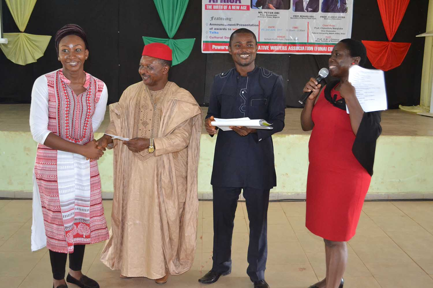 Award of prizes to student-winners