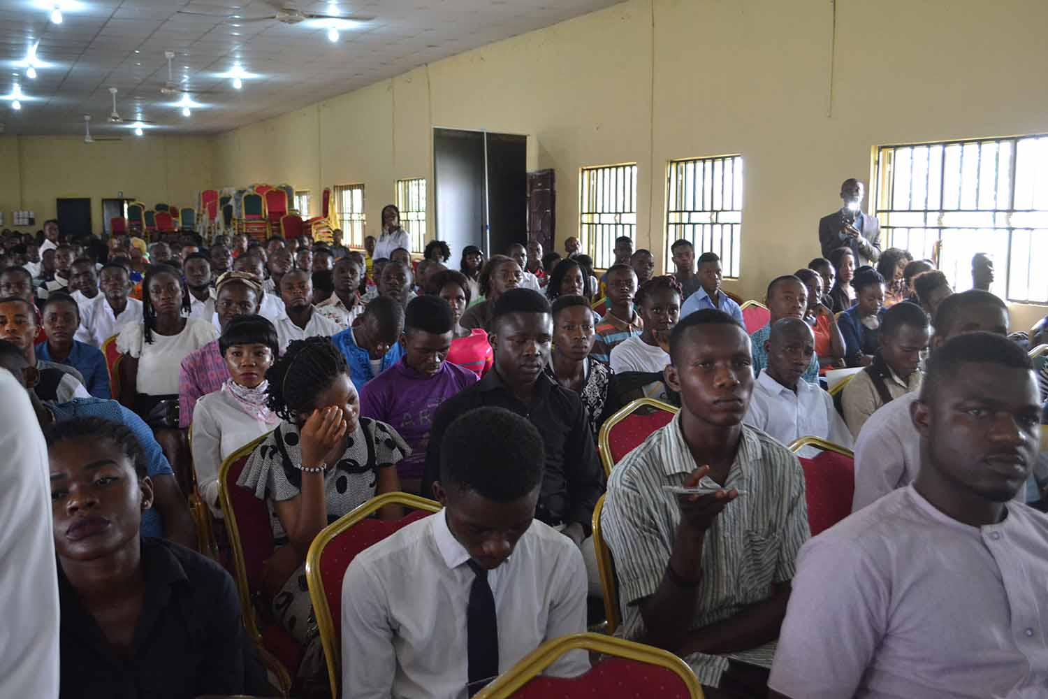 Cross section of the members of the audience