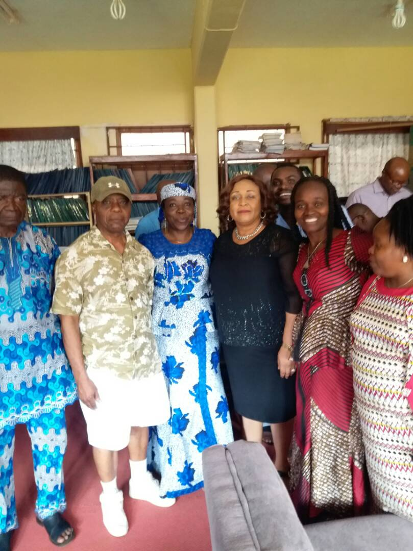 Prof Emezue in a pose with some colleagues from the department of English and Literary Studies, University of Nigeria, Nsukka.