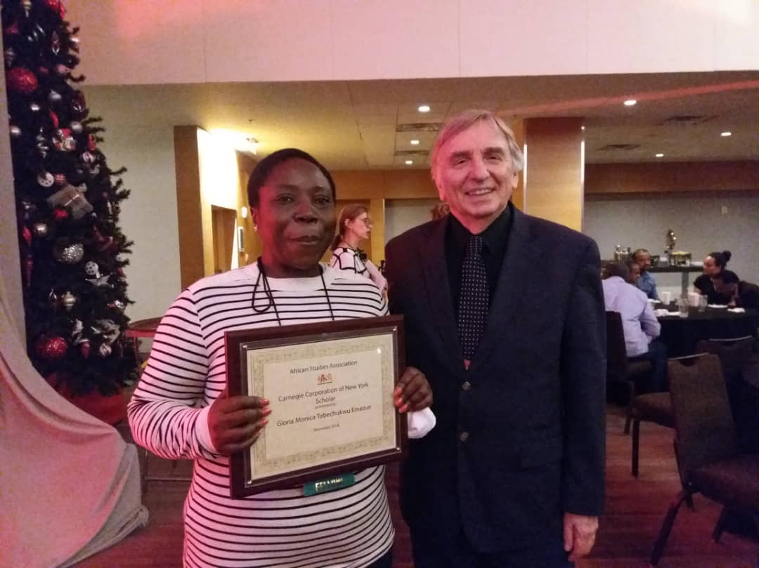 G.M.T Emezue receives the Carnegie Corporation of New York Scholar award