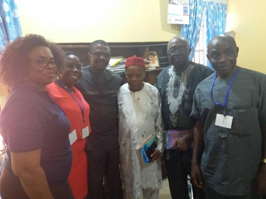 Faces of some writers and critics at ICALEL 2018. Right to Left: Prof Joe Ushie, Prof JOJ Nwachukwu Agbada, Prof Ernest Emenyonu, Mr Camillus Ukah, Prof G.M.T Emezue, Prof Eno Nta