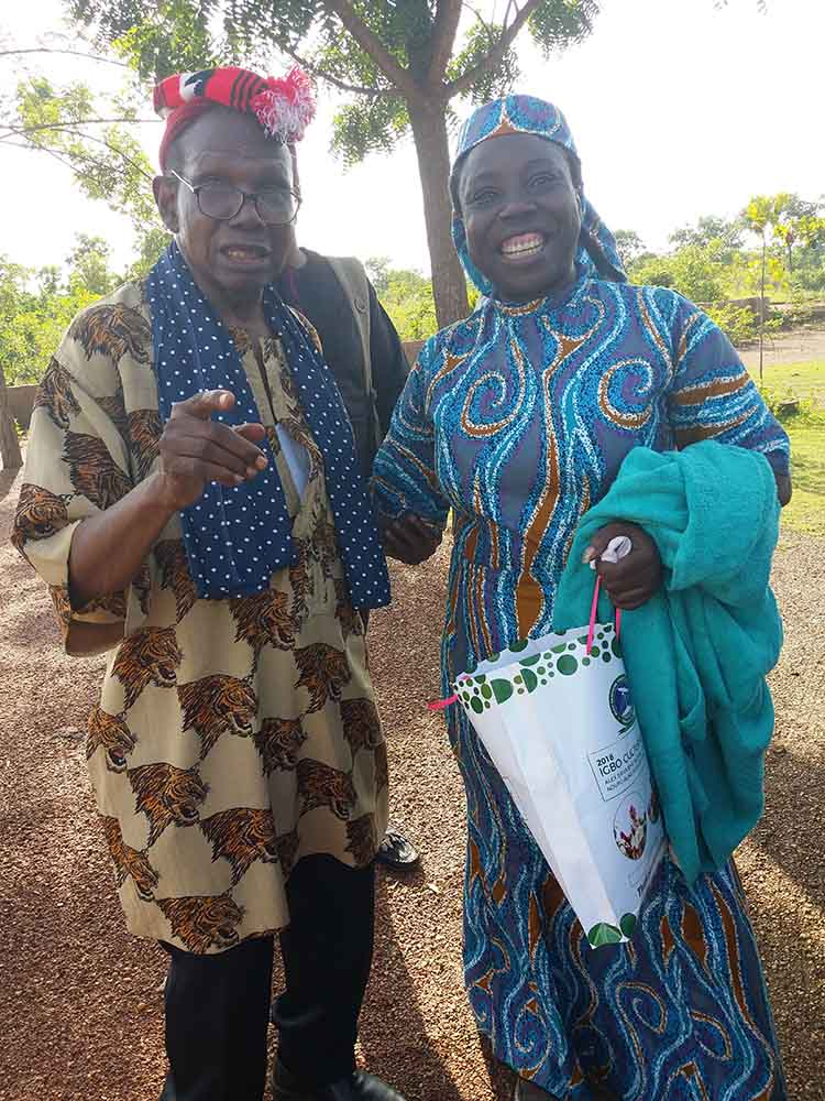 Professors Anezi Okoro and G.M.T Emezue during the 2018 Igbo Cultural Day Festival