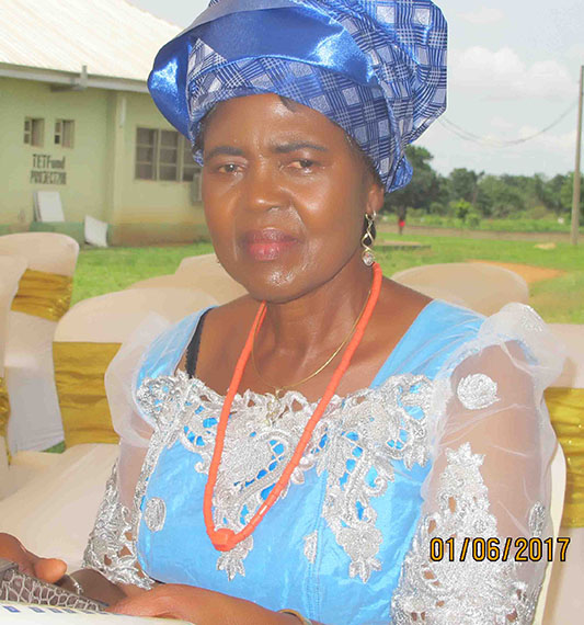 Professor Akachi Ezeigbo in her Igbo Attire