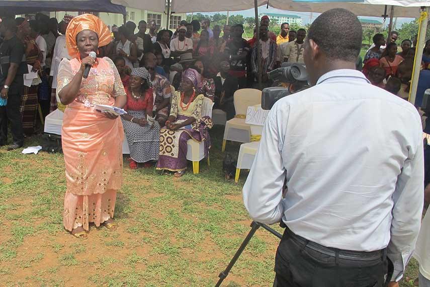 Emezue Giving Opening Remarks
