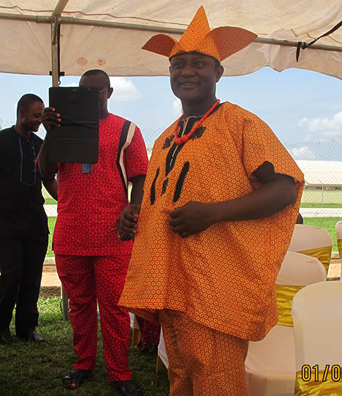 Mr. Tosin Akerele of Linguistics Igbo Unit in His Own Traditional Attire During the Igbo Day Festival