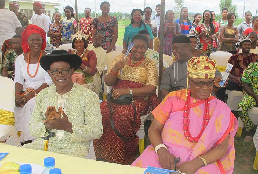 His Royal Highness Dominic Alo and The Chairman of the Occasion Prof. Micheal Onu (R-L)