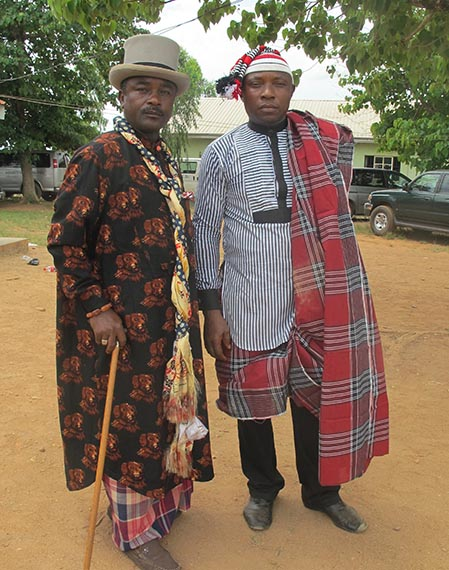 Mr Echem and Mr Egwu in Traditional Attire