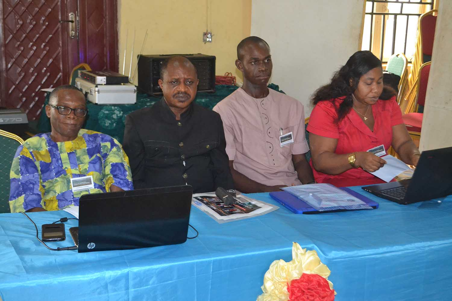 Cross section of paper presenters at the conference