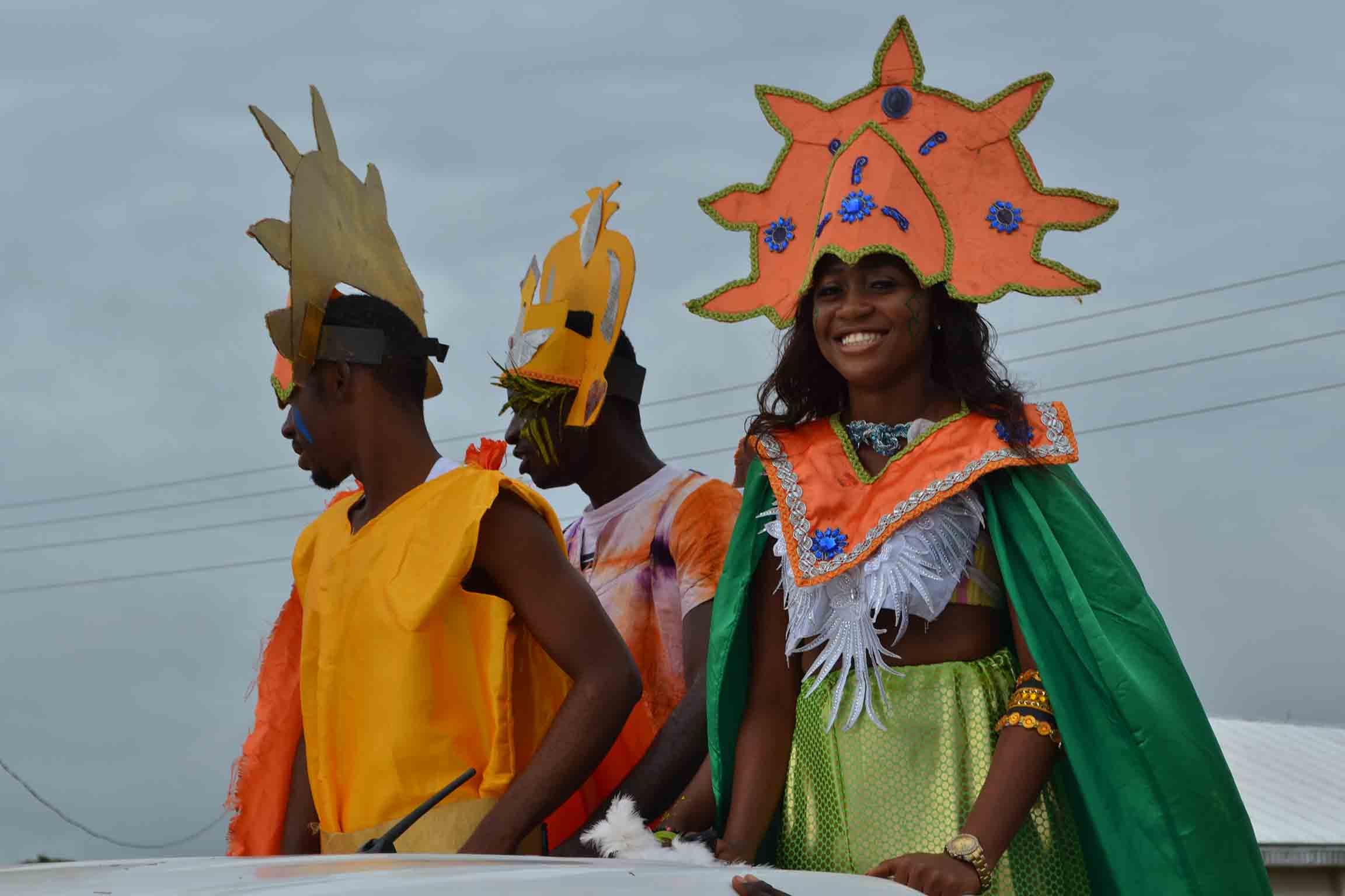AE-FUNAI students in a carnival display