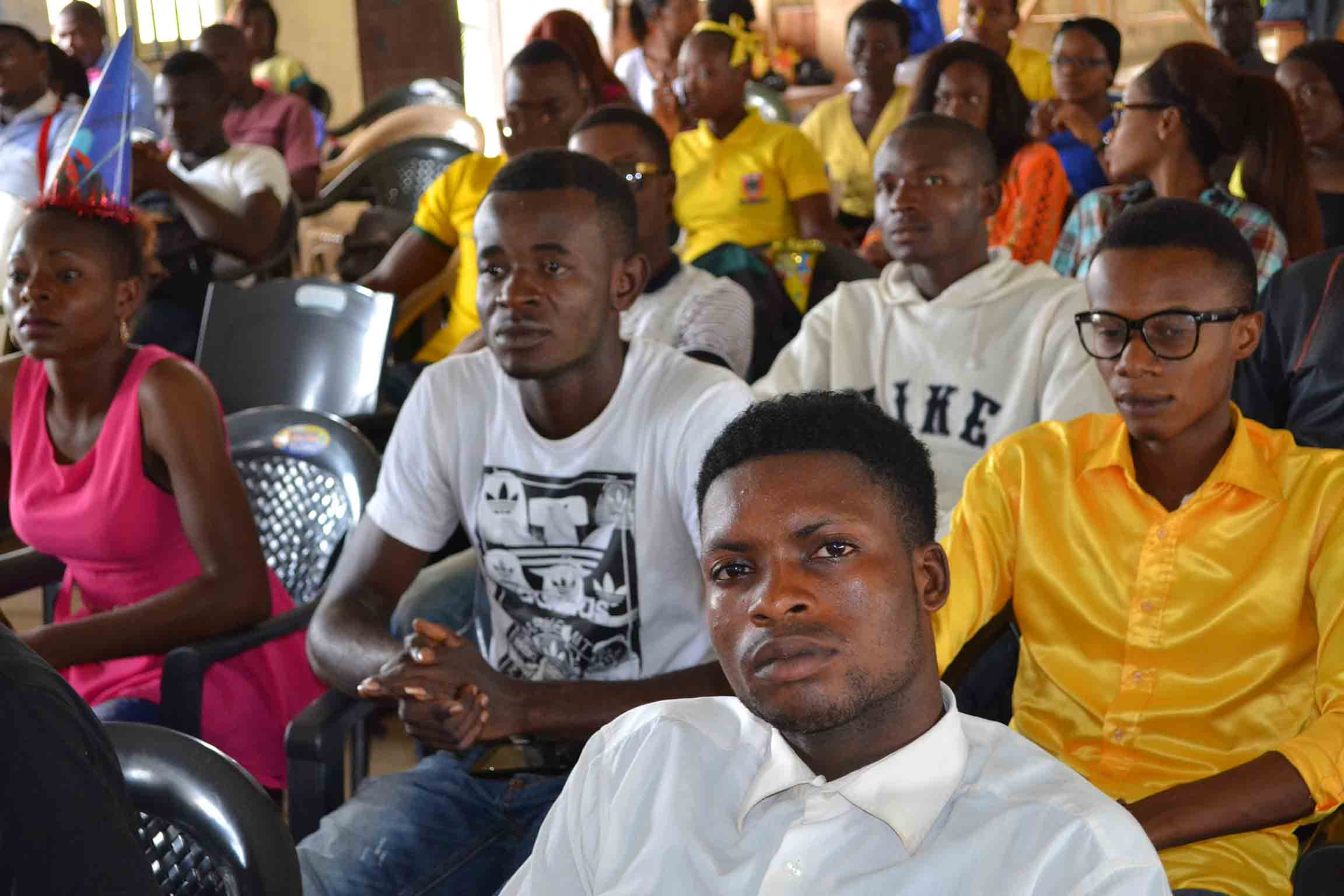 A cross-section of the members of the audience