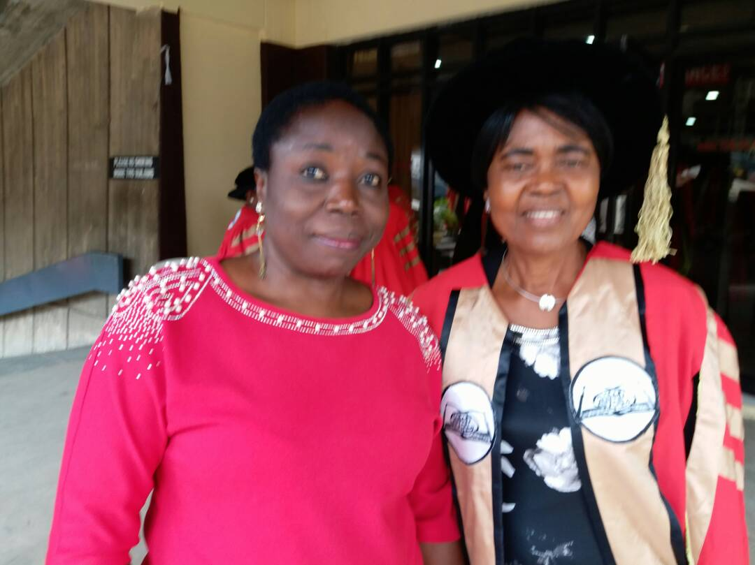 Prof G.M.T Emezue with Prof Akachi Ezeigbo