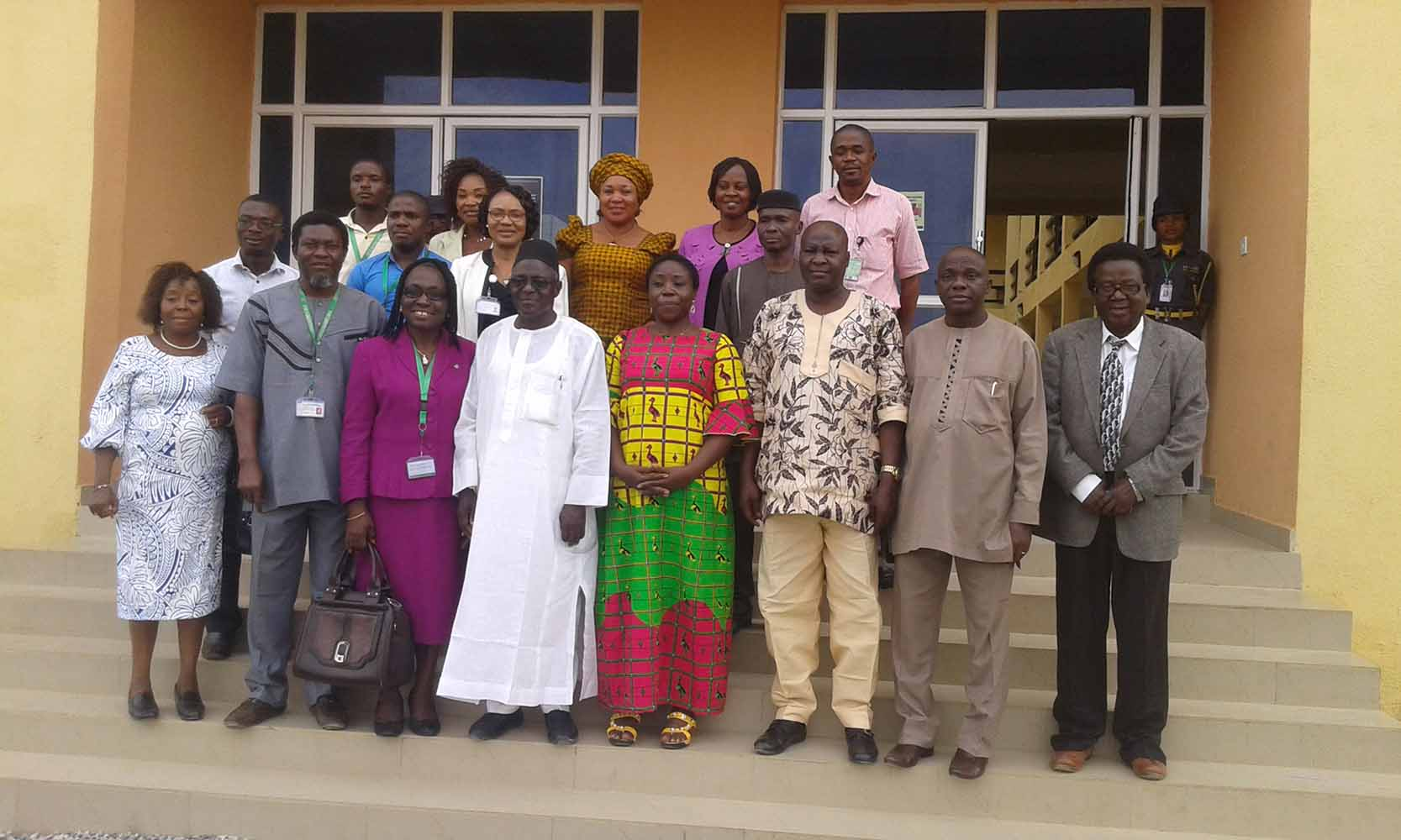 In a pose with colleagues from a Nigerian University
