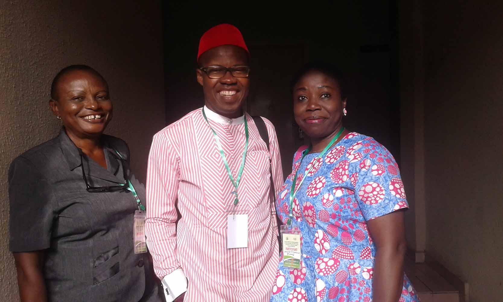 Professors in the AE-FUNAI's contingent – Left to Right : Prof Chinyere NNorom, Prof Jonny Ogunji and Prof G.M.T Emezue