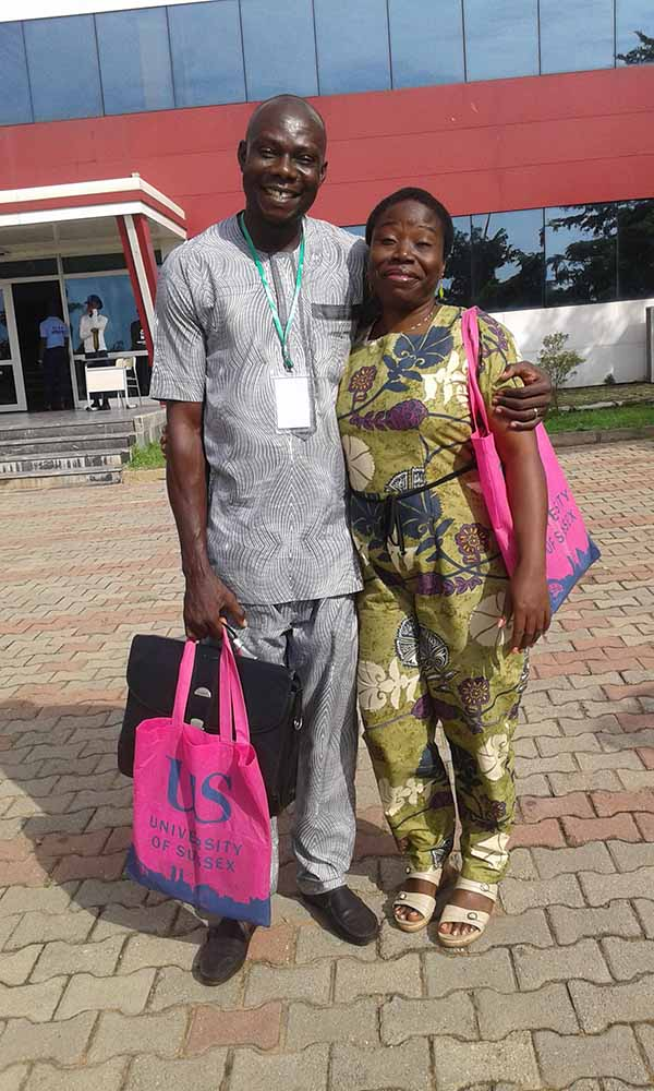 Prof G.M.T Emezue and Dr Nna from the University of Nigeria, Nsukka