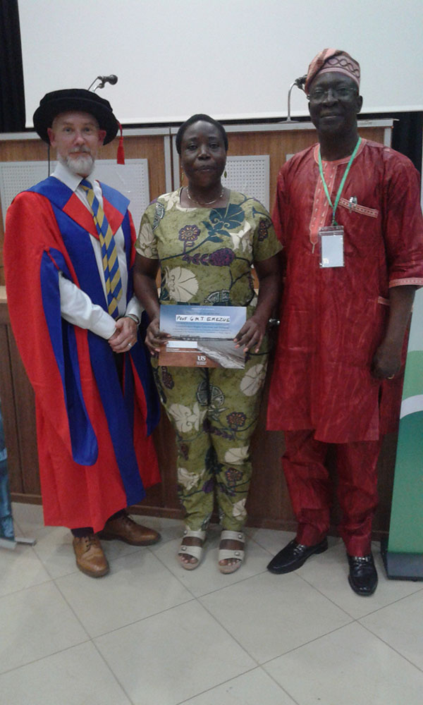 The programme coordinator from University of Sussex, Prof G.M.T Emezue and Dr Ramon S. Yusuf, Director of Research and Innovation at Nigeria's National Universities Commission.