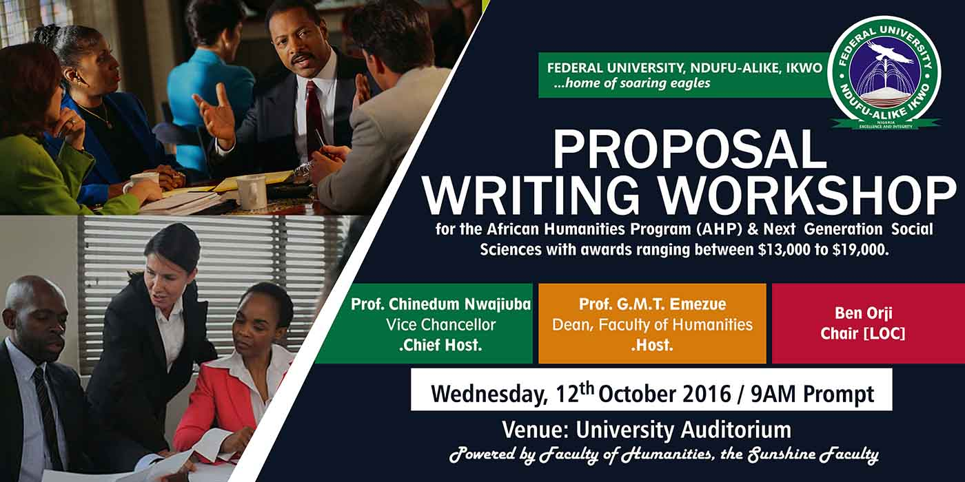 FUNAI Faculty of Humanities' Proposal Writing Workshop