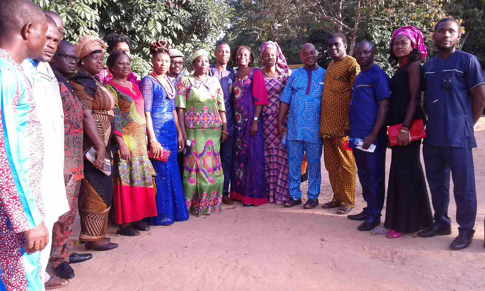 Prof G.M.T Emezue led the faculty delegation to rejoice with Lucky during his traditionl wedding on 9th of September 2017.